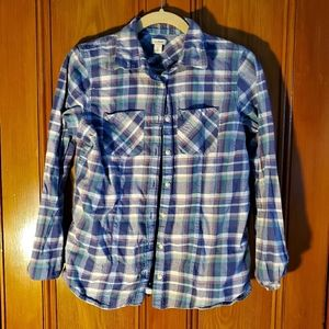 L.L. Bean plaid shirt